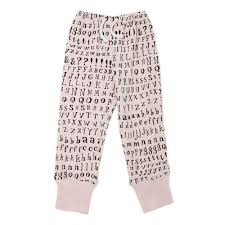 Pants In Organic Kids Jogger Pants In Blush Letters