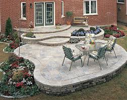 backyard raised patio ideas. Raised Patio Brick Pavers Patios Backyard Ideas