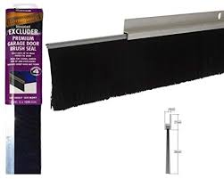 8foot 2 5m aluminium and brush draught excluder seal for the bottom of a garage