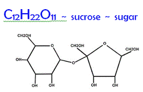 sucrose is sugar words formula and structure