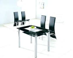 glass and chrome dining table small glass dining table set simple small glass dining table for your home decor with prepare jet black glass chrome dining