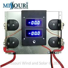 ennis wind and solar dc and ac meters dual 100 amp digital dc meter pre wired board