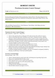 Inventory Controller Resumes Inventory Control Manager Resume Samples Qwikresume