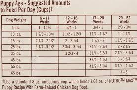 Nutro Puppy Food Feeding Guidelines Foodstutorial Org