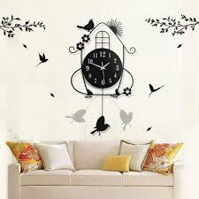 living room wall clocks. AsyPets Creative Living Room Wall Clocks Pastoral Bird Clock Black 30-in From Home \u0026 Garden On Aliexpress.com   Alibaba Group