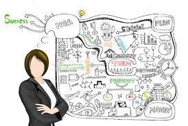 Lady Presenting Business Plan Vector Illustration Vectomart
