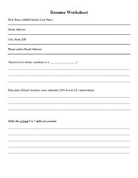 Resume Worksheet For High School Students And Printable Pics 7 Resume  Worksheet For High School Students ...