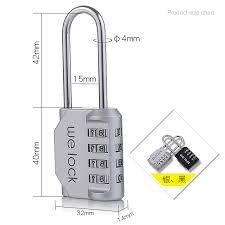 Padlock Size Chart Extension Padlock Beam Wire Rope Cable Password Lock Basket Luggage Backpack Shoe Cabinet Door Handle Cupboard Secret Code Locks