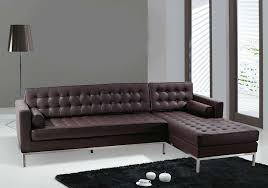 italian furniture small spaces. Living Room Furniture Tufted Brown Faux Leather Sofa With Chaise In Gray Modern Couches For Small Spaces Italian I