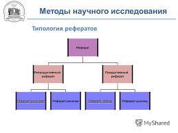 Презентация на тему Конспект на правах рукописных материалов не  3 Методы научного исследования