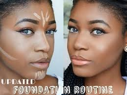 easy natural foundation routine natural makeup tutorial black woman makeup contouring and contours on