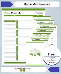 Auto Maintenance Log Printables By Design
