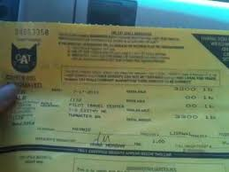 pcs diary weight ticket