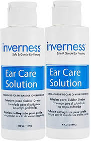 INVERNESS After Piercing <b>Ear Care</b> Solution 4 oz 2 pc <b>Set</b>