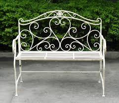 Solid Teak Wood Industrial Wrought Iron Bench Patio FurnitureOutdoor Wrought Iron Bench