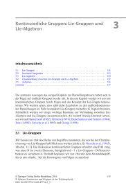 Kontinuierliche Gruppen Lie Gruppen Und Lie Algebren Springer