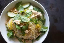 summer vegetable and gl noodle salad
