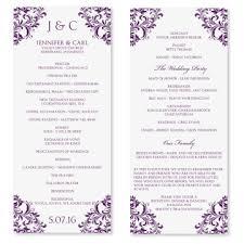 Printable Wedding Program Templates Free Wedding Program Template Download Rome Fontanacountryinn Com