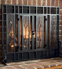 lastest 12 glass fire screens type