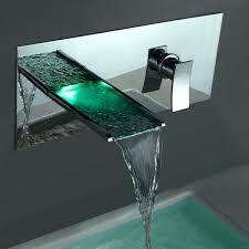 wall mount waterfall faucet kokols led tub and hand shower