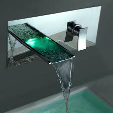 wall mount waterfall faucet kokols led tub and hand shower