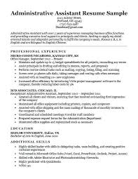 Sample Professor Resume Admin Resume Objective Assistant Resume Sample Administrative