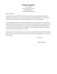 Best Mobile Sales Pro Cover Letter Examples Livecareer