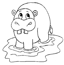 Small Picture Hippopotamus Hippo coloring page Animals Town Free