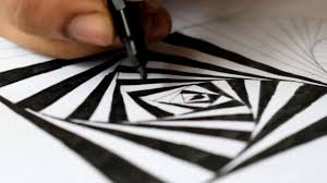 How To Draw A Simple Black And White Optical Illusion Hd