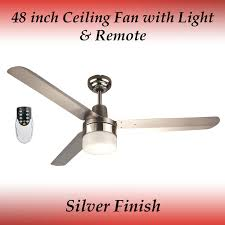 sparky 48 inch 1200mm 3 blade silver 304 stainless steel ceiling fan with light and remote