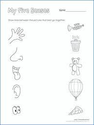 5 Senses Worksheets Preschool Five Senses Coloring Page 5 Preschool ...