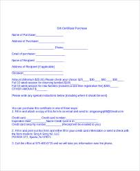 gift certificate for business gift certificate template word 8 free word documents download