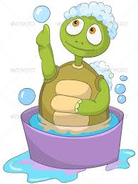 Turtle. Baby Washing by RAStudio | GraphicRiver
