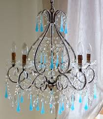 turquoise crystal chandelier