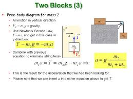 free diagram for mass 2 all motion in vertical direction f 2