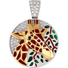 Серебряный <b>медальон</b> ''Жираф'' <b>Kabarovsky</b> 13-002-8101 с ...