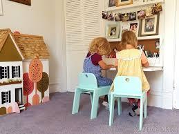 diy fold down children s desk with storage inside free plans