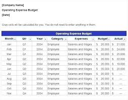 restaurant expense cost projection spreadsheet operating template restaurant expenses