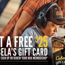 nra weekend at cabela s s free 25 gift card feb 10 11