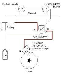 correct mini starter wiring ford