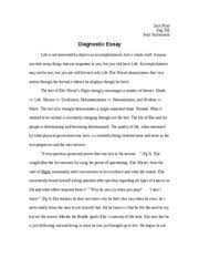diagnotic essay i cover letter relevant to the central ideas 4 pages diagnostic essay i
