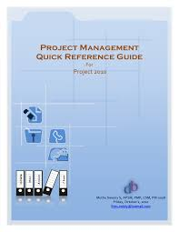 project management quick reference guide project management by ms project 2010