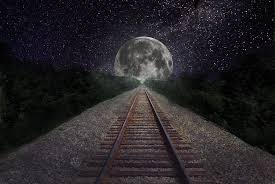 Image result for train moon