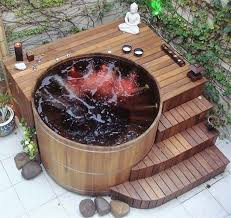 mind ing ideas for patio hot tubs