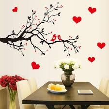 Wall Decoration Paper Design DIY Tree Bird Heart Print Wall Stickers Wall Decor Paper Sticker 16