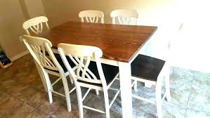 wood and white dining table set dark table white chairs dark table and chairs black wood