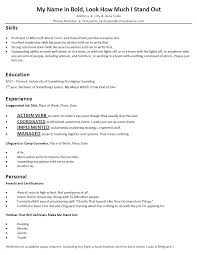 Student Resume Doortodoorcomedy