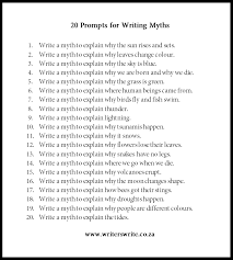 myths to use as writing prompts writers write 20 myths to use as writing prompts