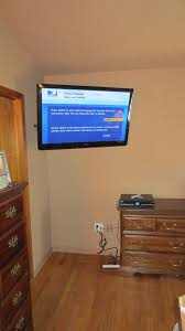 fairfield ct led tv mounting on wall in bedroom with wires concealed 1
