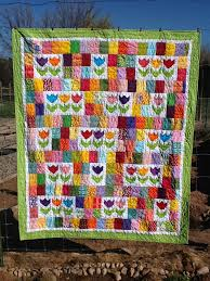 Tanya Quilts in CO: Tulip Patch Quilt Finish & Tulip Patch Quilt Finish Adamdwight.com